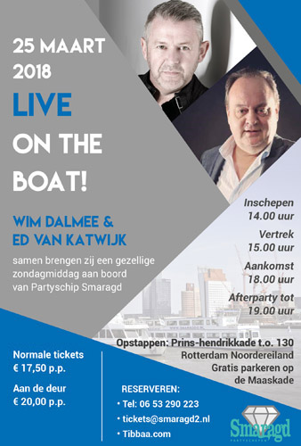 Live on the Boat! - 25 maart 2018